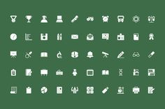 125+ Education Vector Icons - Vol 2 by Creative Stall on @creativemarket