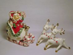 Your place to buy and sell all things handmade Christmas Girls, Old World Christmas Ornaments, Christmas Figurines, Antique Christmas, Christmas Past, Christmas Images, Vintage Ornaments, Vintage Santas, Vintage Holiday
