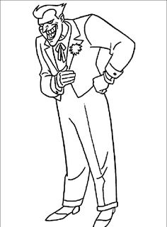 Joker Coloring For Kids Coloring Page In 2020 Batman Coloring Pages Coloring For Kids Superhero Coloring