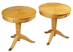 A pair of Art Deco tables by Jules Leleu at 1stdibs