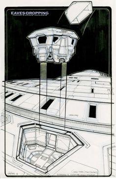 Escape pod design by John Eaves