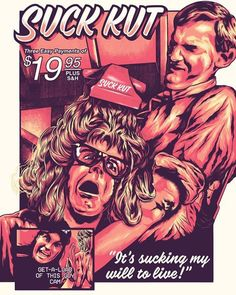 4 color screenprint 18 x 24 inches signed and numbered, limited edition of 60 unframed inspired by Waynes World - Suk Hut Wayne Campbell, Party On Garth, Rock Posters, Movie Posters, Vintage Music Posters, Wayne's World, World Tattoo, Great Movies
