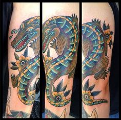 Alligator & Crocodile tattoo often represents the culture that you put in focus that's the reason more people concentrating on Alligator & Crocodile Tattoos.