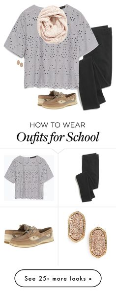 """omg just remembered we dont have school tomorrow:)))"" by serenag123 on Polyvore featuring Madewell, Zara, Lemon, Kendra Scott, Sperry Top-Sider, women's clothing, women's fashion, women, female and woman"