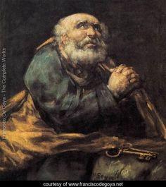 St Peter Repentant - Francisco De Goya y Lucientes - www.franciscodegoya.net