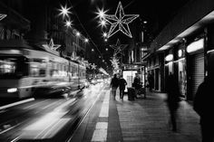 CityLight - A crowded road at Christmas time in Milan, Italy.