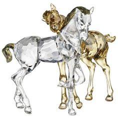 Swarovski Foals Playing Golden Brown - $544