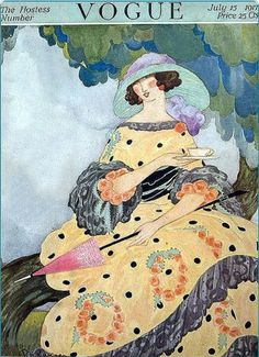 ⍌ Vintage Vogue ⍌ art and illustration for vogue magazine covers - July 1917
