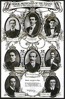 *The Titanic's band, led by Wallace Hartley, were employed as crew, but given second class accommodations.