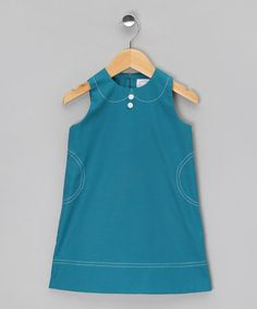 Take a look at this Teal Stitch Dress - Toddler & Girls by Little Troll on #zulily today!