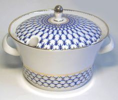 Lomonosov Porcelain Porcelain Dinnerware, White Dishes, Sugar Bowl, Bowl Set, Sad, Blue And White, Furniture, Other, Home Furnishings