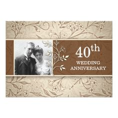 Shop wedding anniversary photo vintage invitations created by jinaiji. Personalize it with photos & text or purchase as is! Wedding Anniversary Photos, Wedding Anniversary Invitations, Photo Wedding Invitations, Vintage Invitations, Unique Invitations, Invitation Cards, Anniversary Ideas, Invitations Online, Rsvp