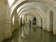 Flooded Catacombs of Winchester Cathedral