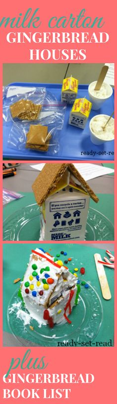 milk carton gingerbread house, christmas activities for kids Christmas Activities For Kids, Holiday Fun, Christmas Holidays, Crafts For Kids, Preschool Christmas, Christmas Program, Winter Activities, Christmas Recipes, Toddler Activities