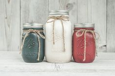 Red White Blue Patriotic Mason Jars – Memorial Day Fourth of July Mason Jar Ideas - Fourth of July Mason Jars - Patriotic Mason Jar Craft Ideas