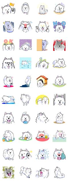 Developer: OSUSOWAKE || Sticker packet name: Stamp of Samoyed