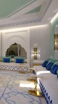 Moroccan style majlis living room interiors with nice traditional Arabic sofas. Find more unique interior design ideas for woman's majlis & get inspiration. Morrocan Decor, Moroccan Room, Moroccan Interiors, Moroccan Style, Moroccan Lanterns, Lounge Design, Sofa Design, Interior Design Living Room, Living Room Designs