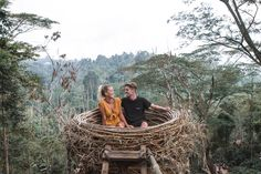 As you drive up and down the main road you'll see one huge sign pointing to a turning off the main road, with a note of this way'. Shack House, Modern Tree House, Fairy Tree Houses, Outside Decorations, Farm Stay, Mountain Resort, Garden Trees, Bali Travel, Glamping