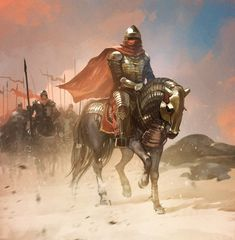 Art featuring medieval knights and their fantasy/sci-fi counterparts. High Fantasy, Fantasy Rpg, Dark Fantasy Art, Medieval Fantasy, Fantasy Artwork, Fantasy World, Character Inspiration, Character Art, Character Design