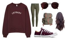 """Untitled #45"" by jenna-carr ❤ liked on Polyvore featuring H&M, Converse and Ray-Ban"