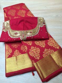 Pure Kanchipuram Saree by Casipillai Designer Collection www.facebook.com/Casipillai  For more information call +447931615302 Indian Attire, Indian Wear, Indian Outfits, Saree Dress, Saree Blouse, Sari, Saree Collection, Designer Collection, Indian Sarees