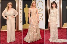 Julie Delpy in Jenny Packham.Cate Blanchett in Armani Prive. Sally Hawkins in Valentino.Oscar Red Carpet Fashion Re-Cap - Tyranny of Style