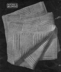 Norfolk cot blanket. To knit for our room, in med grey wool.