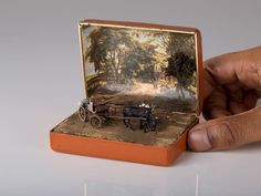 In an unexpected but effective mix of unlikely media, Toronto-based artist Talwst has created a series of miniature dioramas inside of antique ring boxes that capture wide array of scenes from various historical periods.