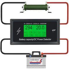 Corriente de alimentación Metros Comprobadores de Baterías de capacidad digital DC del amperímetro del <font><b>volt</b></font>ímetro medidor de voltaje voltios de corriente detector vatímetro