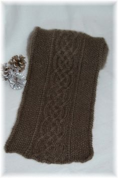 """Qiviut Scarf for Men (or Women), hand knit in pure Qiviut """"Vancouver Island"""" - ideal gift for any occasion! MADE TO ORDER Moss Stitch, Vancouver Island, Design Show, Special Gifts, Mittens, Knits, Hand Knitting, Etsy Shop, Pure Products"""