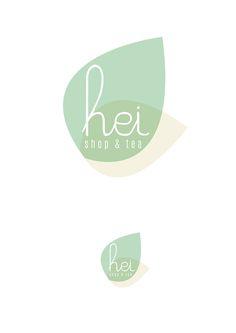 Hei shop & tea on behance tea logo, logo inspiration, fleur design, tea Design Logo, Identity Design, Logo Design Simple, Brand Identity, Design Design, Japan Logo, Logo Inspiration, Tolle Logos, Logos Online