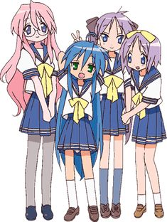 This is the one thing I dislike about lucky star. They're all to scrawny to have curves.....