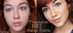 No time for makeup? Try a quick and easy foundation free makeup routine! www.loveshelbey.com