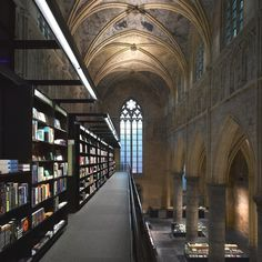 A 13th Century church in the Netherlands that was converted into a bookshop. So beautiful! Picture taken from the TheFoxIsBlack.com