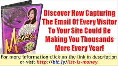 Make Money Online - List Is Money Step-by-Step Videos   Start earning 100% commissions today. Put together the complete internet marketing package. Get started today.