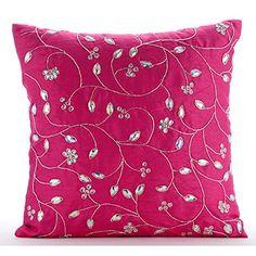 Designer Fuchsia Pink Pillow Covers, Zardozi Leaves Garde... https://www.amazon.com/dp/B016H8WOM0/ref=cm_sw_r_pi_dp_x_olIaybPNHQ8VM