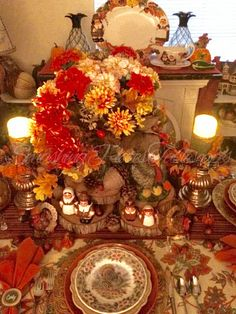 This weeks table is decorated for a Thanksgiving feast. Thanksgiving 2016, Thanksgiving Traditions, Fine Dining, Tablescapes, Plates, Autumn, Traditional, Fun, Decor