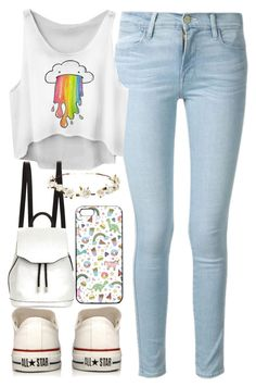 """Foster Kid #150"" by jlol on Polyvore featuring Frame Denim, Converse, rag & bone and Cult Gaia"