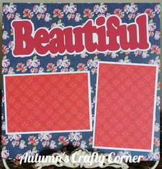 Beautiful Basic Premade Scrapbook Page 12x12 Layout for Album