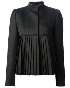 Givenchy | Black Pleated Jacket | Lyst