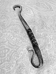 Blacksmithed bottle opener.