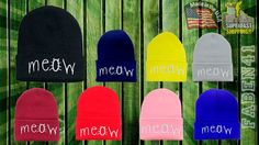 Hey, I found this really awesome Etsy listing at https://www.etsy.com/listing/156650704/meow-newest-winter-beanie-one-size-fits