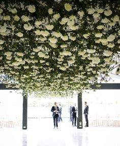 Hayley + Daniel - Floral Ceiling - The Style Co.