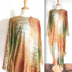 Vintage 1960s Dress // 60s 70s Metallic by TrueValueVintage, $105.00
