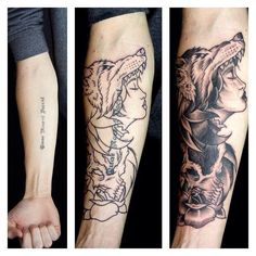 Wolf Girl Cover Up by Ken stewart