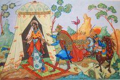 Los cuentos de hadas de Pushkin.  Dadon y Shamahanskaya reina.  Kurkin