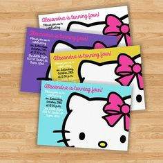 Hey, I found this really awesome Etsy listing at https://www.etsy.com/listing/164431012/hello-kitty-birthday-party-invitation