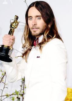 Jared Leto, Academy Awards, 2014. Congratulations Jared! Well deserved.