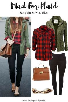 Fall Plaid Outfit Ideas | Regular & Plus Size