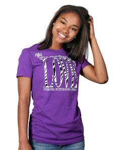 Love Zebra - Christian Womens Shirts for $19.99   C28.com